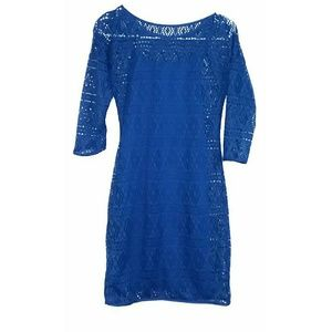 Express Size XS Blue Long Sleeve Dress